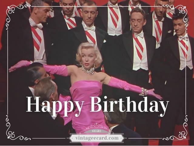 Share Vintage ECards All Happy Birthday